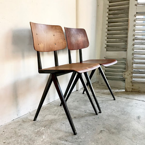 """Galvanitas"" Compass Leg Chair 1960's オランダ/ Y.BRN"
