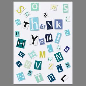 コラージュのカード Thank you!  #191