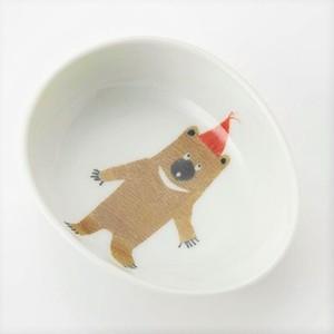 動物の子ども食器<卵型ボール> M.pots、陶房青