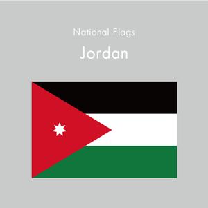 国旗ステッカー ヨルダン