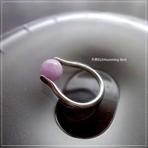 天然石の指輪◆クンツァイト◆シルバー925