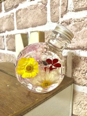 丸型ネコ瓶ハーバリウム(^^)ピンク
