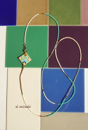 pendant of mosaic / symmetry  モザイクのペンダント/シンメトリー