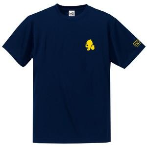 ワンポイントキャラクターTシャツ(ネイビー×イエロー)