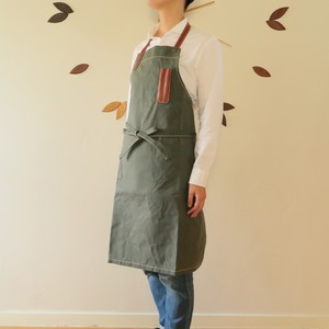Paraffin canvas apron  KHAKI