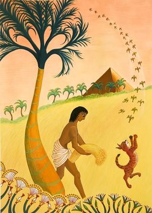 エジプト/ジークレー版画/フレームサイズ:縦54cm 横42.5cm