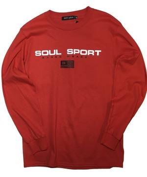 SOUL SPORT long sleeve T / Red