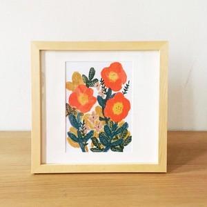 北欧風おしゃれイラスト※オレンジの草花※