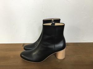"_Fot ""wood heel boots 65 circle   "" Black"