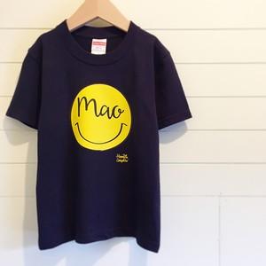 Name ☺︎/ネイビー - ネームオーダーTシャツ