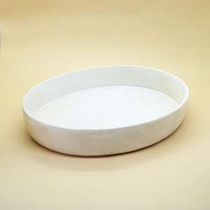 チタン白楕円鉢 【瀬川辰馬】