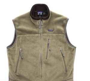 "'01 USA製 [patagonia] ""R4 Vest"" フィールドグリーン 表記(L) ハイロフトフリースベスト パタゴニア 初期"