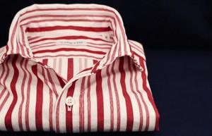 CADETTO ORIGINALS SHIRTS Multi Stripe Magenta Red