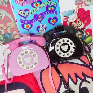 ゆめかわ 電話機 バッグ 2色
