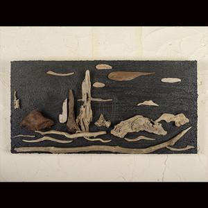 流木で描く山水画(S saiz) #3