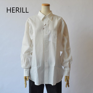 HERILL/ヘリル・Linen reguler collar shirts