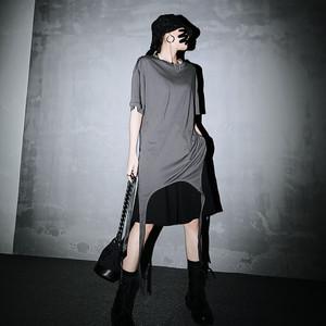 モード系 Tシャツ スタイリッシュ 3WAYスタイル 大人きれいめ キレカジ オルチャン 原宿系 20代 30代