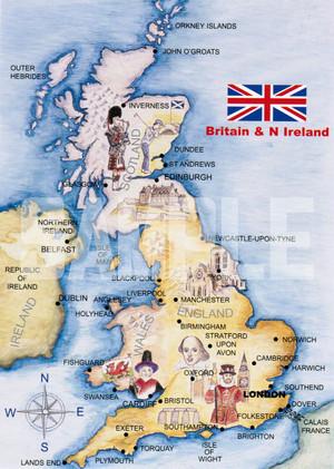 英国王室ポストカード【英国地図】Pageantry Postcard 90183-JEF77