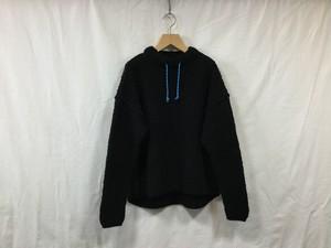 """LA'NIT""""Moc Neck knit Black"""""""