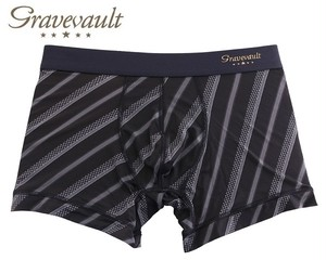 【gravevault】OHIGARA・BLACK / 3051902 グレイブボールト メンズ ボクサーパンツ ストライプ