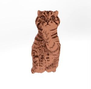 ティノ HOKUSHIN ピンバッチ シルバー925 ピンクゴールド 猫 ねこ ネコ