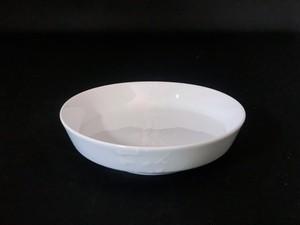 【井上祐希作】釉滴付立皿(中)WHITE