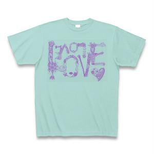 【Tシャツ】アクア色「LOVE LOVE LOVE」