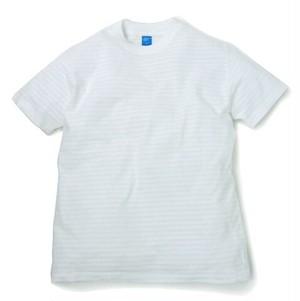 Good On / グッドオン | S/S BORDER TEE - White/White