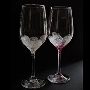 デコレーション ワイングラス ローズ