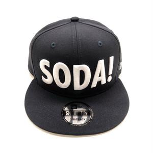 SODA!×NEW ERAコラボスナップバックキャップ(ネイビー)