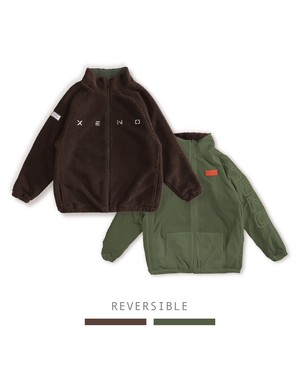 XENO REVERSIBLE BOA JACKET Brown