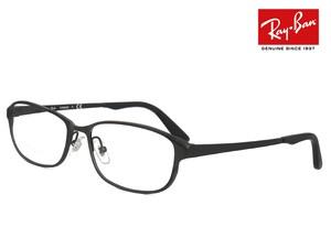 レイバン 眼鏡 rx8716d 1119 56-16 チタン メガネ フレーム 56mm スクエア 型 黒ぶち 黒縁 めがね