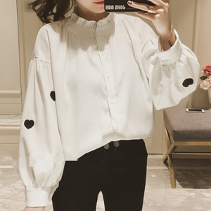 【tops】刺繍ファッションプルオーバーシャツ26665221