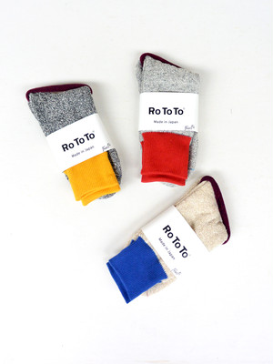 "ROTOTO(ロトト) DOUBLE FACE SOCK""SILK&COTTON"" UNISEX"