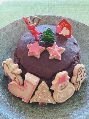 クリスマスおうちでデコレーション 米粉ガトーショコラ&アイシングクッキーset 【送料込み】
