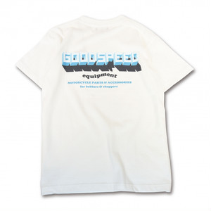 GOODSPEED equipment EVILACT(イーブルアクト) / 3D Logo S/S T's(white)