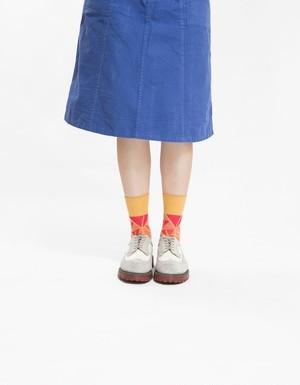 テンモアソックス 靴下 黄色