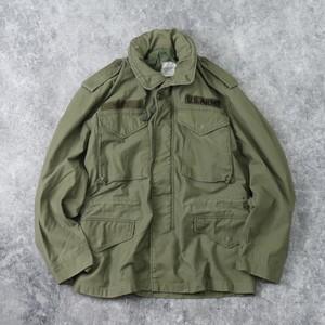 70年代 U.S.ARMY M-65 フィールドジャケット S-S ブラスジップ ミリタリー ヴィンテージ B46