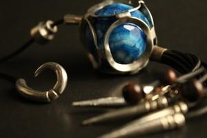 Blue Lace Agate Tassel Pendant