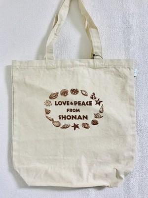 トートバッグ大(Love&peace from shonan)
