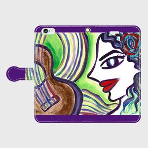 手帳型ケース「mujer y guitarra」