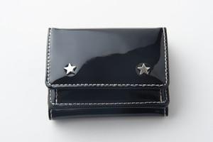 soglia×hiros23 コラボ 三つ折り財布 ブラック
