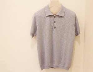 MICHELACCI DANILO Slub Polo Shirt Gray