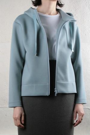 Blue Fronce cardboad knit zip up hood hoodie ダンボールニット ジップアップパーカー