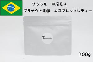 ブラジルコーヒー豆 ・中深煎り 100g(プラナウト農園 エスプレッソレディー)