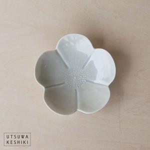 [前田 麻美]芙蓉 豆皿(灰青釉)