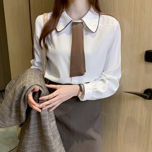 〈カフェシリーズ〉カフェにいきたくなるボウタイブラウス【cafe bow tie blouse】