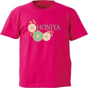 ぽんぽん菊Tシャツ ピンク