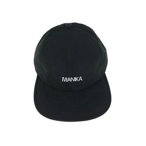 MANIKA  LOGO / WP 6Panel Fold Web Dad Cap / Black