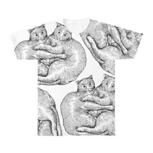 ペンイラスト猫Tシャツ【Pen cat 双子の猫】